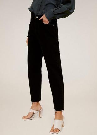 Черные прямые джинсы от mango, 36, 38р, оригинал, испания