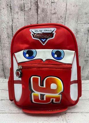 Детский рюкзак для мальчика тачка маквин 95 цвет красный
