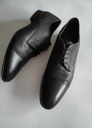 Туфли джоггеры оксфорды мужские 100% кожа 32 см большой размер