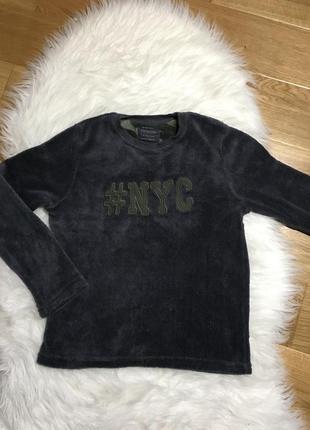 Теплая кофта для мальчика, флисовая кофта, флисовый свитер 10-11 лет