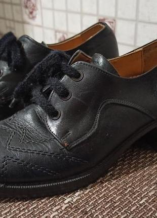 Кожаные туфли для танцев1 фото