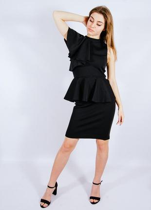 Черное коктейльное платье, нарядное платье, чорна коктельна сукня, коротка сукня