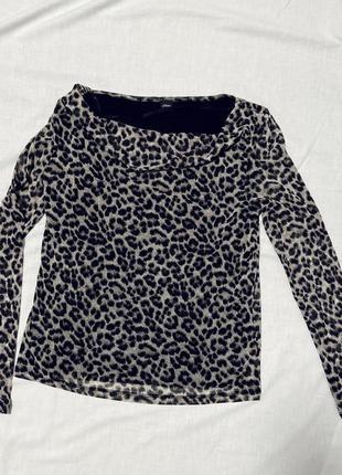 Блуза s.oliver с длинным рукавом леопардовый принт