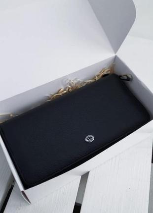 Мужская кожаная барсетка + подарочная коробка