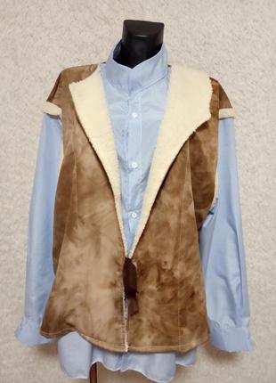 Стильная рубашка - жилетка обманка
