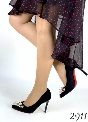 """Нереально красивые туфельки на удобном каблучке с жемчугом """" анита """""""