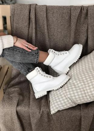 Timberland на меху 🍏 зимние женские ботинки тимберленд