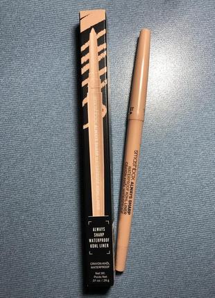 Smashbox always sharp 3d liner bare водостойкий карандаш-подводка для глаз