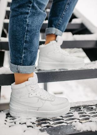 Nike air force 🍏  зимние женские кроссовки найк