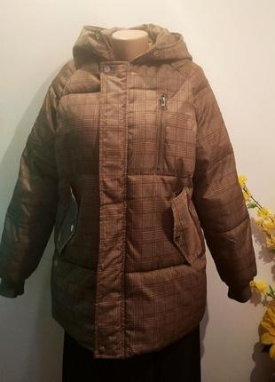 Куртка в кретку  зима
