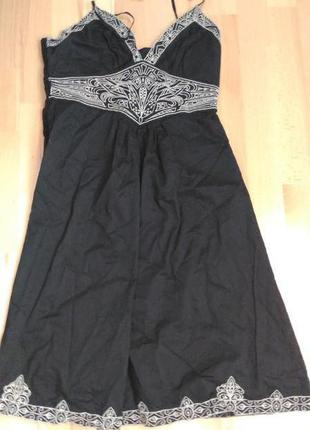 Черное нарядное платье- сарафан