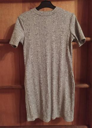 Платье  люрекс короткое