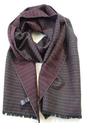 Теплый шарф двусторонний benvenuto 100% шелк