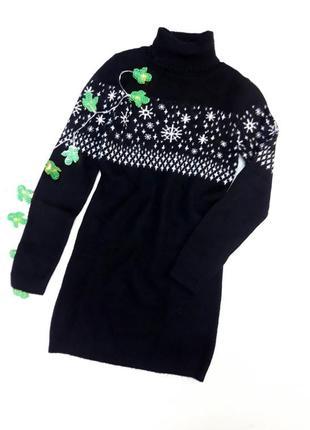 Черное платье-гольф, туника размер 44 и 46 наш