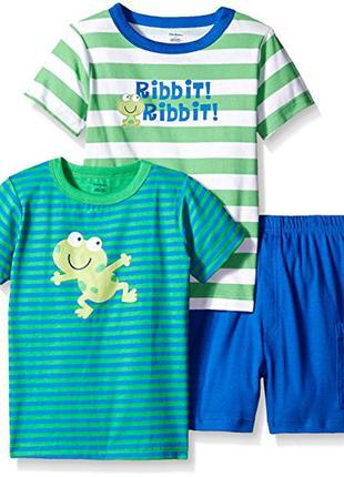 Комплект gerber для мальчиков 2 футболки и шорты