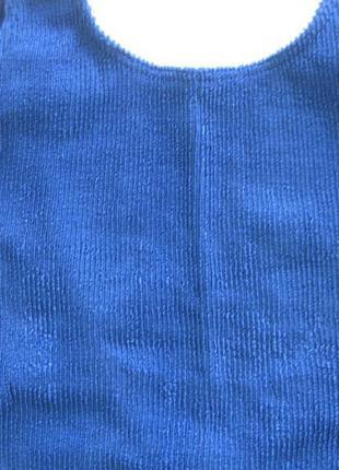 Купальник  боди синий3