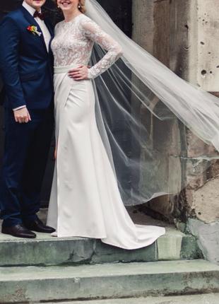 250$ весільне {вечірнє} плаття tulipia {розмір м}3 фото
