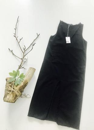 Платье джинсовое zara арт 3302