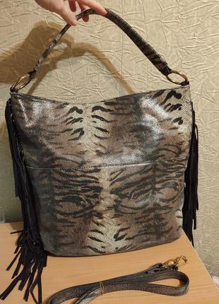 Шикарная итальянская кожаная сумка