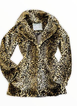 Тигровая шубка, шуба в тигровый принт, экошуба2 фото