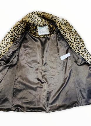 Тигровая шубка, шуба в тигровый принт, экошуба4 фото