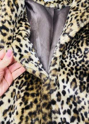 Тигровая шубка, шуба в тигровый принт, экошуба6 фото
