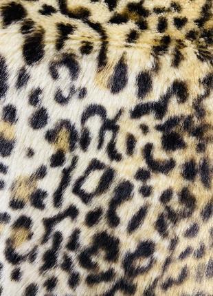 Тигровая шубка, шуба в тигровый принт, экошуба9 фото