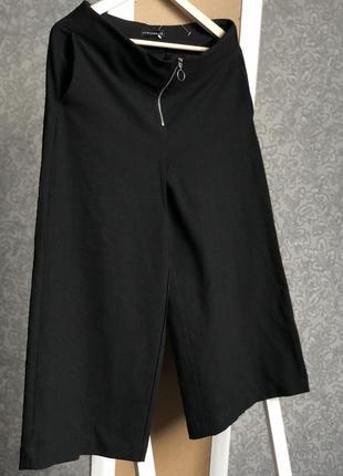 Чёрные штаны кюлоты широкие, waikiki