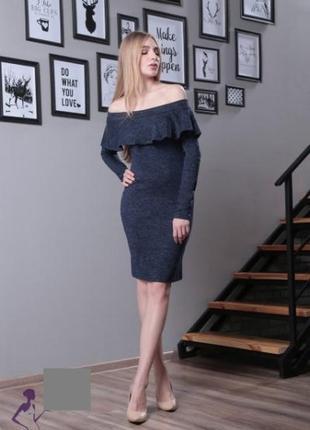 Женское платье миди из ангоры