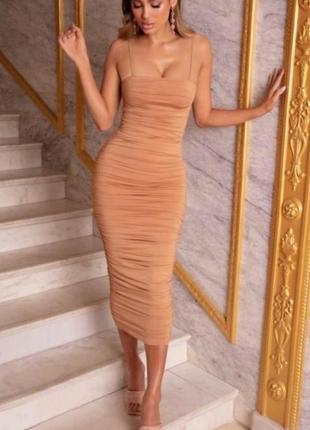 Платье-футляр, по фигуре, обтягивающее яркое oh polly