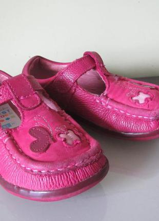 Комфортные туфли-мокасины clarks, размер 22