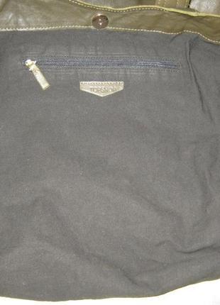 Top shop добротная большая кожаная сумка шоппер 50/35х39  через плечо кожа9 фото