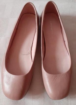Roberto santi кожаные туфли балетки р. 40 ст. 26 см