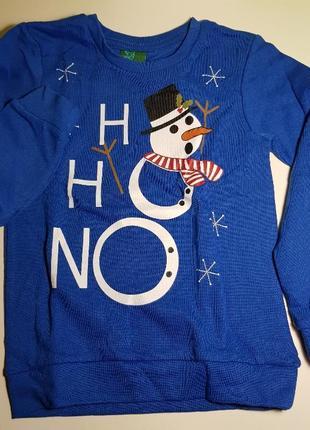 Новогодний свитер снеговик