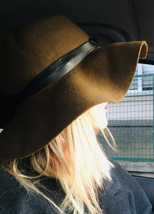 H&m-шляпа в стиле бохо//шерстяная с плавными полями