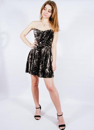 Праздничное платье с открытыми плечами, бархатное нарядное платье короткое, сукня, плаття
