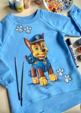 Детский свитшот с ручной росписью