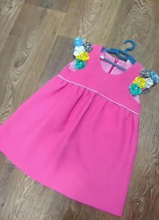 Платье на девочку 3-5 лет.