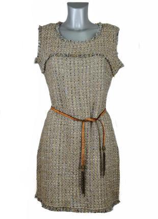 Шерстяное итальянское платье с ремнем kor@kor. код п35855.