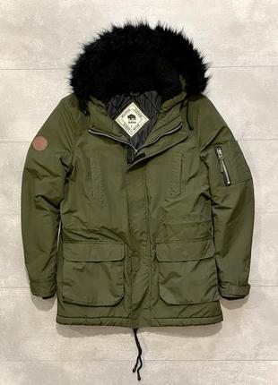 Bellfield britain мужская куртка l xl парка хаки зимняя курточка идеал