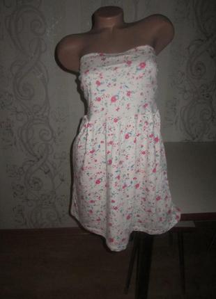 Фирменный сарафан бандо vila clothes 44 c