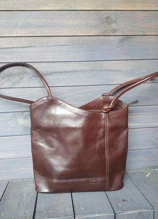 Брендовый очень стильный и кожанный рюкзак