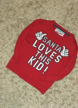 Новогодний свитер rebel р 4-5 лет