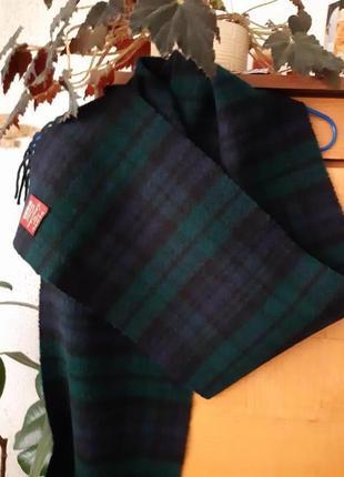 Длинный шерстяной шарф в клетку известно бренда heritage