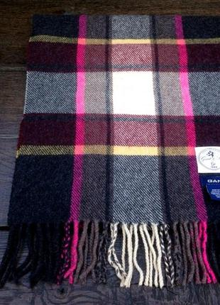 Gant. мужской шерстяной шарф. оригинал. италия