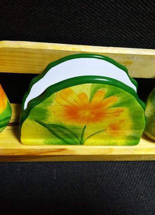 Керамический набор для приправ солонка