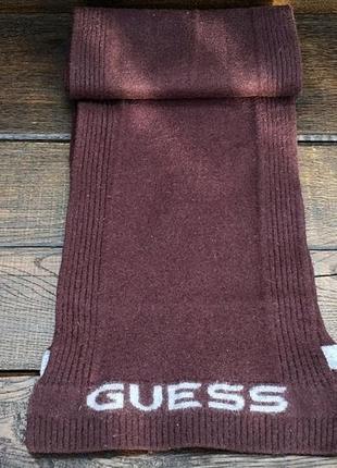 Guess jeans. мужской шерстяной шарф. кашемировый шарф. оригинал.