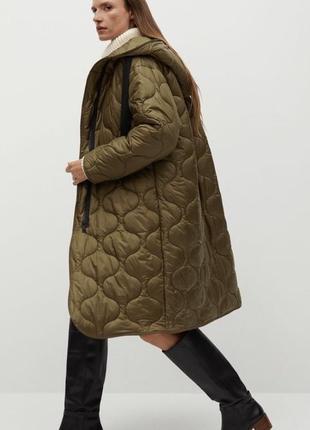 Пальто куртка пуховик стёганая mango оригинал длинная