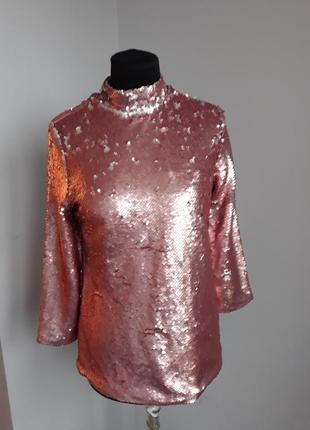 Женская модная вечерняя кофта в паетках mohito