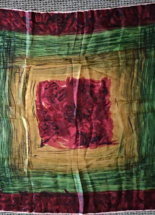 Платок палантин шелк 💯 большой подарок 78*78 см